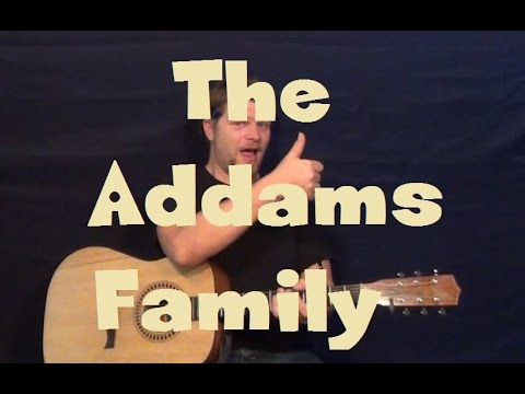 The Addams Family (TV Theme Song) Easy Guitar Lesson How to Play Tutorial