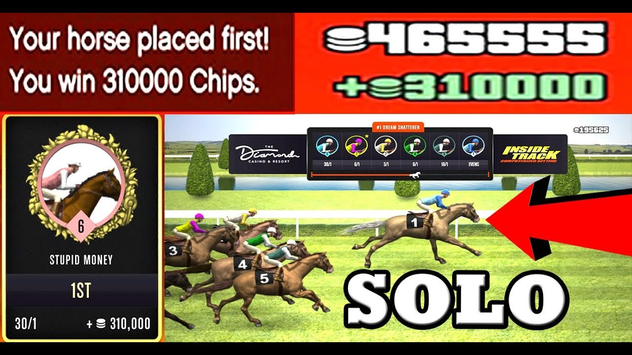 WIN HORSE TRACK RACE *$310,000* EVERY 5 MIN AT THE CASINO IN GTA 5 ONLINE  ($25,000,000 SUPER EASY)