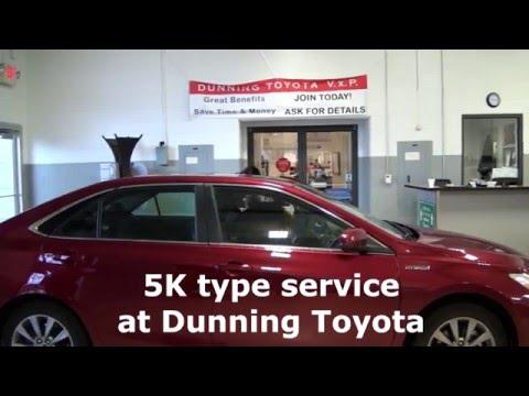5K Mile Service Center At Dunning Toyota In Ann Arbor, MI