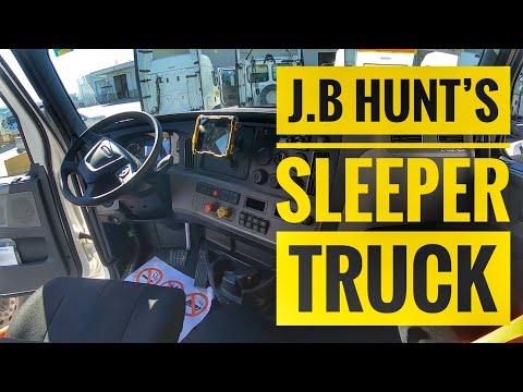 J.B Hunt's Freightliner Cascadia Sleeper Truck