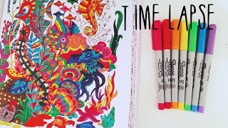 Under the Sea Colouring Page Time Lapse