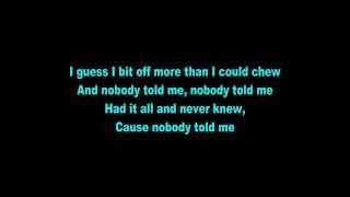 B.o.B - Nobody Told Me Lyrics
