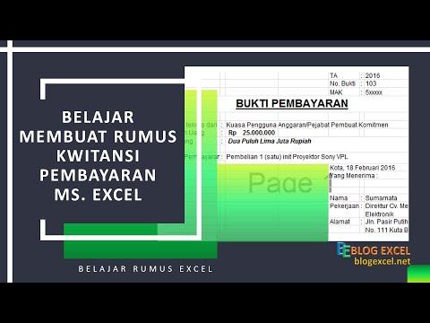 Rumus Kuitansi Pembayaran Microsoft Excel