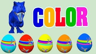 Learn Colors with Surprise Eggs for Children, Toddlers - Dinosaur Surprise Eggs 3D for Kids