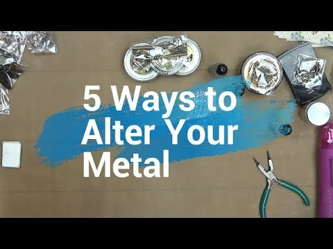 5 Ways to Alter Metal Embellishments (Butterbeescraps DT Project)