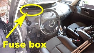 renault espace iv - dashboard fuse box - youtube  youtube