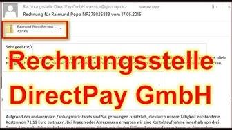 Achtung: Rechnungsstelle DirectPay Rechnung enthält Trojaner Service Giropay.de