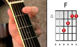 Master The F Chord - 4 Easy Steps - Electric Acoustic Guitar Lessons For Beginners