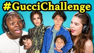 TEENS REACT TO #GucciChallenge (Hold Your Own Head Challenge!)