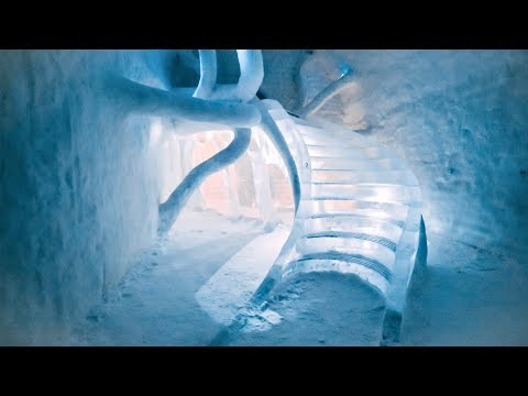 Sleeping in a - 10C hotel made ENTIRELY OF ICE!