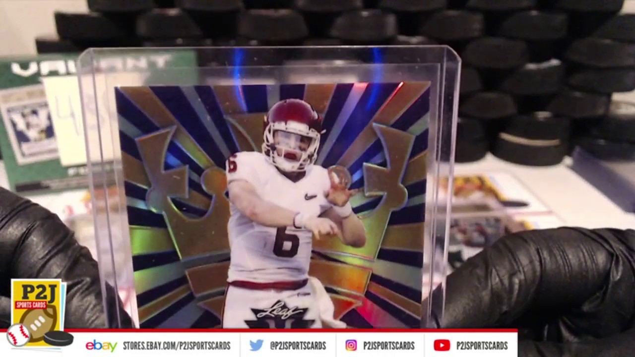 save off 01464 7a798 eBay LIVE Breaks - 2018 Leaf Valiant Football Box Break #436 BAKER  MAYFIELD! #rookies #autograph