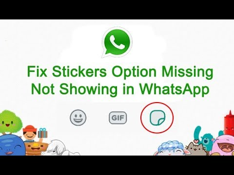 Fix Stickers Option Missing | Not Showing in WhatsApp | Tech Help Full HD