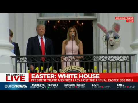 Thumbnail: Melania Trump's speech at the White House's annual Easter Egg Roll