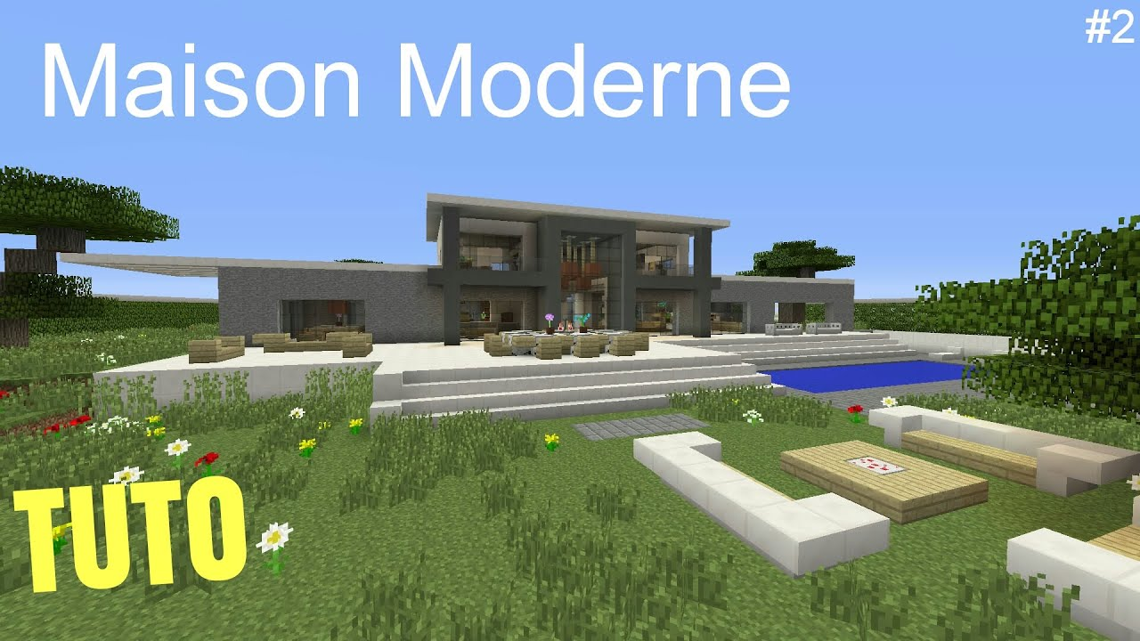 Tuto minecraft maison moderne 2 ps4 ps3 xbox360 xboxone for Minecraft maison moderne tuto