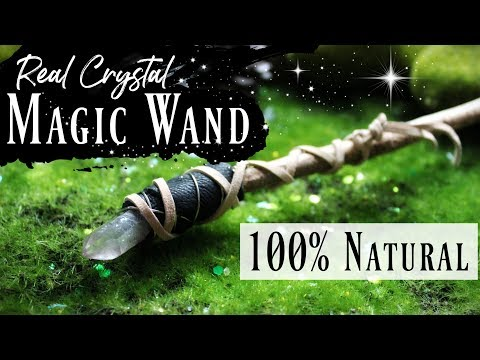 How to make a REAL Magic Crystal Wand DIY ♥ 100% Natural Wand Tutorial without Glue! ♥ #MagicWands