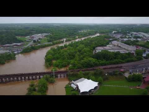 Dan River Flooding 4/25/17 - Danville, VA