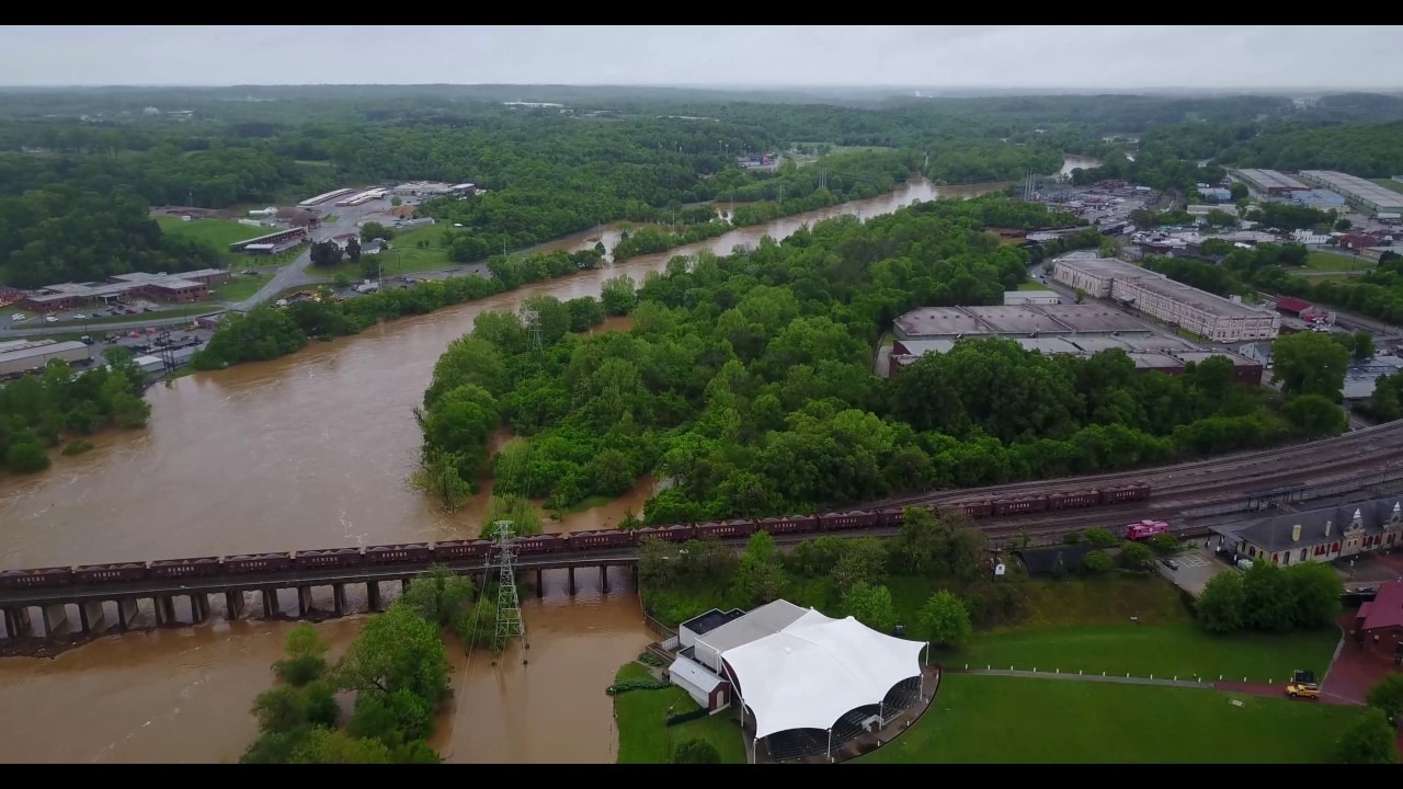 dan river flooding 4 25 17 danville va youtube