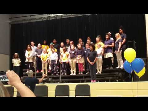 Cheviot Elementary School Students Sing About Peace