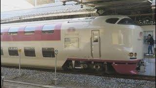 JR東海・西日本【寝台特急サンライズ出雲】285系、岡山駅発車,Japan Railway, Sunrise Express