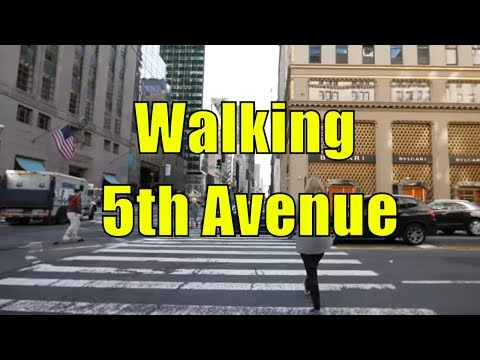 ⁴ᴷ Walking Tour of 5th Avenue, NYC from 59th Street to Washington Square Park