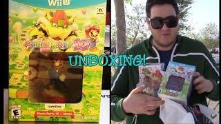 Unboxing Mario Party 10 Wii U combo Mario Amiibo