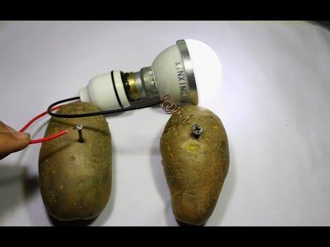Free Energy Light Bulbs Experiment !! Burning Led Bulb Using Potato