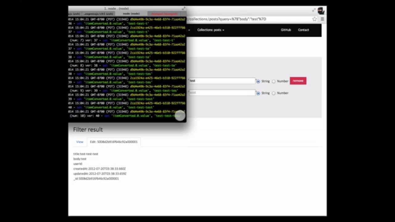 MongoUI: A Real-Time MongoDB Admin Web Interface Written in Node js a la  phpMyAdmin