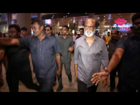 Rajinikanth captured at the Mumbai airport