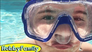 Swimming + Ice Cream! Snow and Orbeez. SuperMan N Batman Toys HobbyFamily Vlog