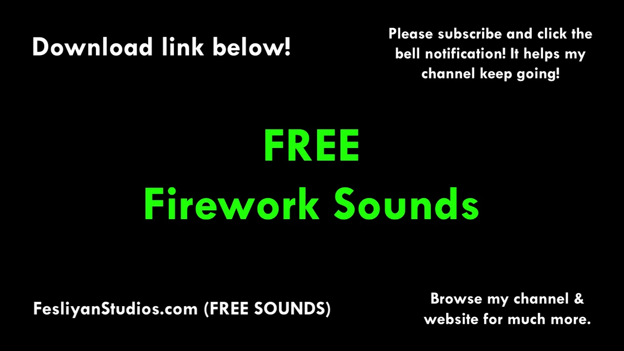 Download free fireworks sound effects recorded new years 2000.