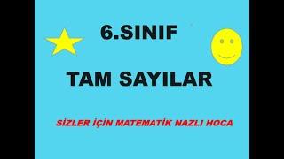 2018-2019  6.SINIF  MATEMATİK TAM SAYILAR