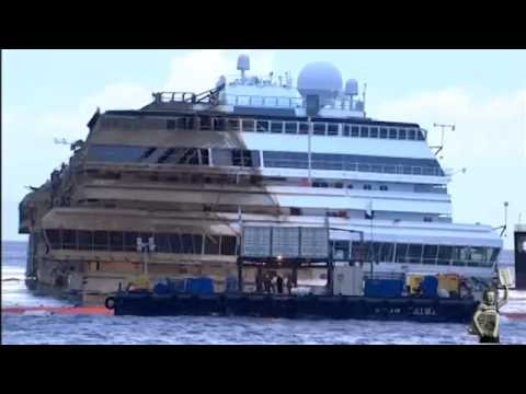 Costa Concordia Salvage Operation September 2013 [Full Raw Video]