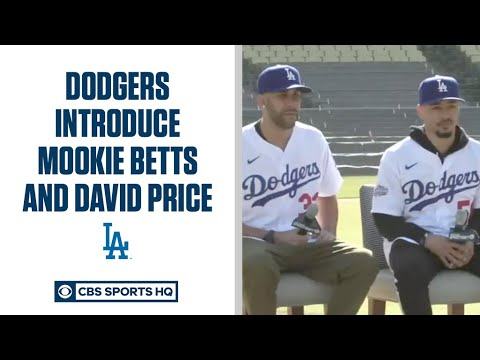 Los Angles Dodgers introduce Mookie Betts and David Price | CBS Sports HQ