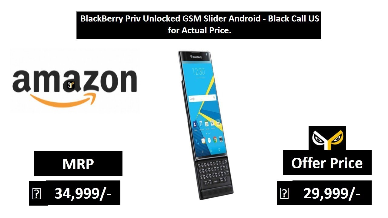 BlackBerry Priv Unlocked GSM Slider Android - Black Call US for Actual Price