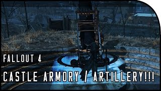 "Fallout 4 Gameplay Walkthrough Part 19 – ""CASTLE ARMORY , CASTLE ARTILLERY & HOW TO UNLOCK!"""