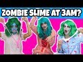 Do Not Make Slime at 3AM. Do We Turn Into Disney Zombie Characters? (3AM Slime Challenge) Totally TV