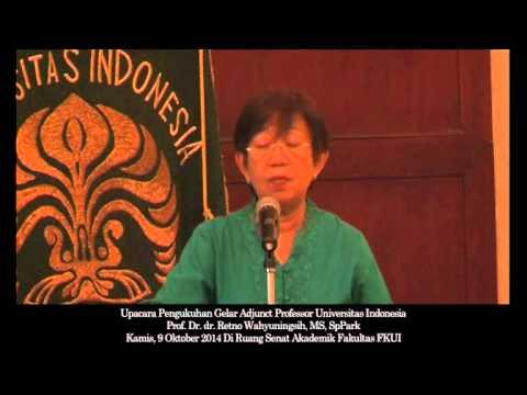 Seremoni Adjunct Professor Retno Wahyuningsih