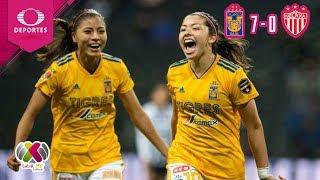 ¡Felinas defienden su liderato! | Tigres 7 - 0 Necaxa  | Liga Femenil A18 - J 15 | Televisa Deportes