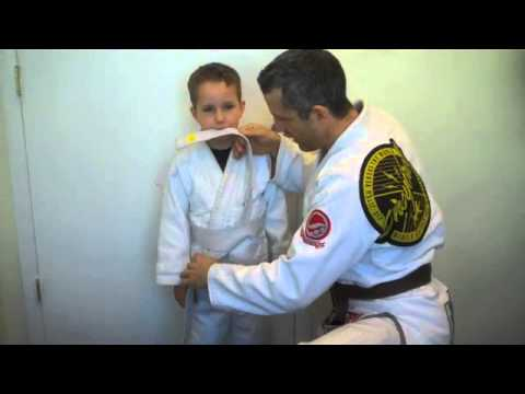How to tie your childs karate belt youtube ccuart Image collections
