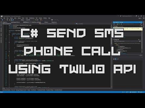 C# Send SMS Text Message & Make Phone Calls using Twilio API