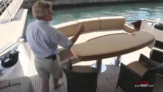 Monte Carlo Yachts 76  Exterior Review  By BoatTEST com