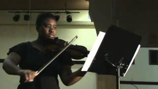 Casandra Faustin 14 yrs old. violin concerto No. 1 in A minor of J.S. Bach. pianist: Darren Matias