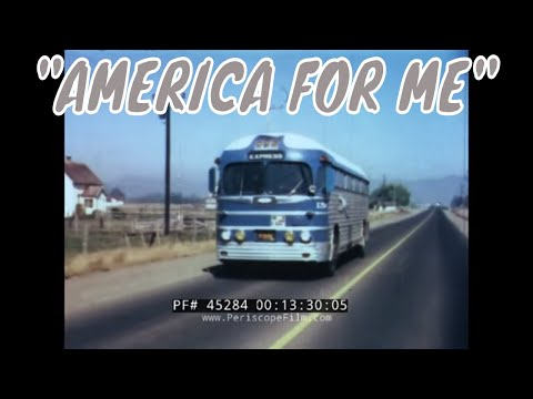 1953 GREYHOUND BUS LINES PROMOTIONAL FILM