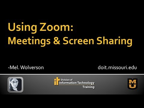 Zoom: Running A Meeting & Screen Sharing