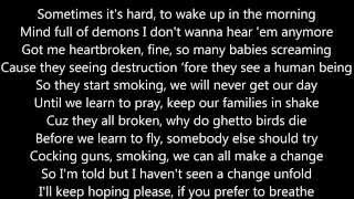 2Pac - One Day At a Time (Lyrics on Screen) Ft. Eminem and The OutLawz