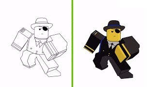 Drawing Roblox Characters With Mouse   Drawing Challenge #1