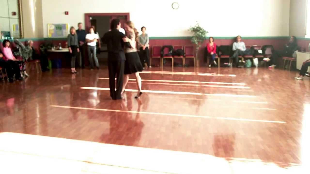 Argentine Tango Steps. Basic- Multiple crosses. Ochos.Enganche- Single axis Turns 12-8-2013 - YouTube