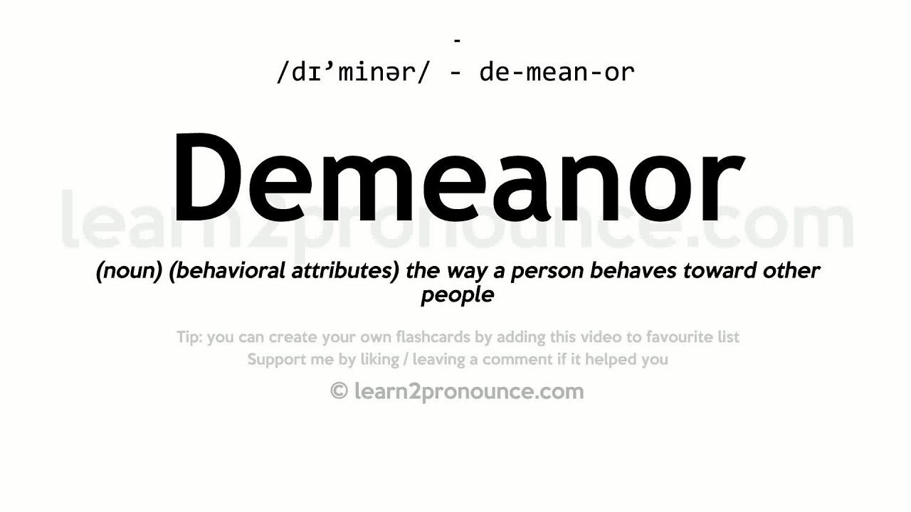 Delightful Demeanor Pronunciation And Definition