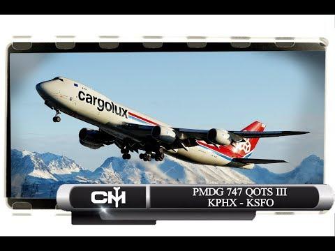 [P3D V4.1] PMDG 747 QOTS III | FULL FLIGHT TUTORIAL | KPHX to KSFO