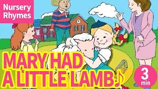 Mary Had A Little Lamb【English Nursery Rhymes, Children's Songs an...